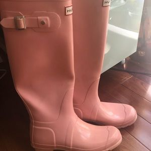 Hunter Shoes - Used Pink Hunter Boots
